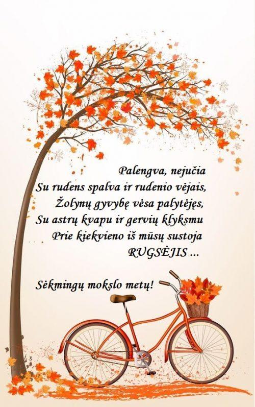SU RUGSĖJO 1-ĄJĄ